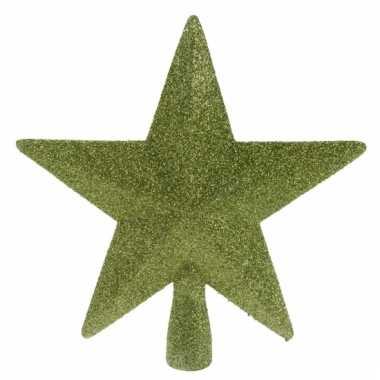 Groene kerstboom piek met glitters