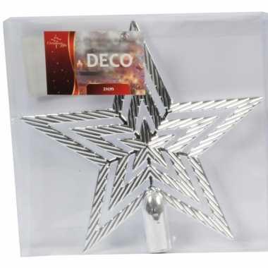 Kerst piek zilveren 21 cm