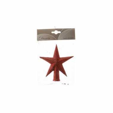 Mini piek rood met glitters 12 cm