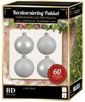 Kerstballen met ster piek set wit voor 150 cm kerstboom