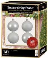 Kerstballen met ster piek set wit voor 180 cm kerstboom 10158156