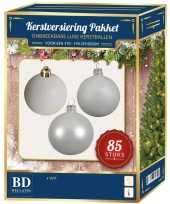 Kerstballen met ster piek set wit voor 180 cm kerstboom 10161747